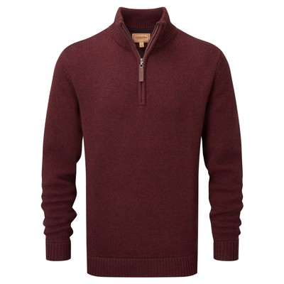 Schoffel Country Lambswool Chunky 1/4 Zip in Damson