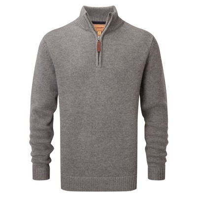 Schoffel Country Lambswool Chunky 1/4 Zip in Castle Grey