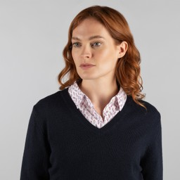 Schoffel Country Ladies Merino V Neck in Navy