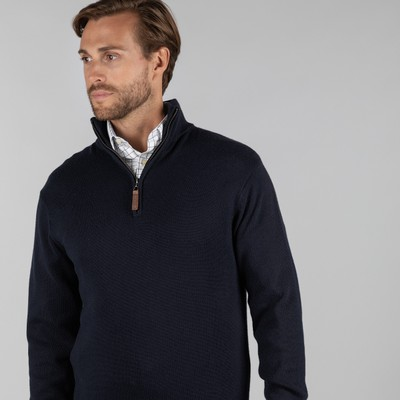 Merino 1/4 Zip Jumper Navy