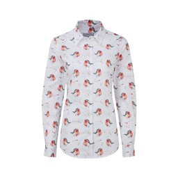 Schoffel Country Norfolk Shirt in Robin Print