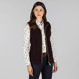 Schoffel Country Lyndon II Fleece Gilet in Aubergine