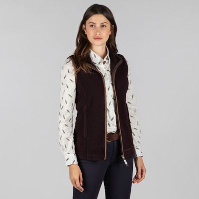 Schoffel Country Lyndon Fleece Gilet in Aubergine