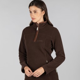 Tilton 1/4 Zip Fleece Mocha