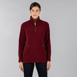 Tilton 1/4 Zip Fleece Ruby