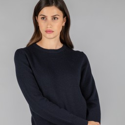 Schoffel Country Ladies Merino Crew Neck in Navy