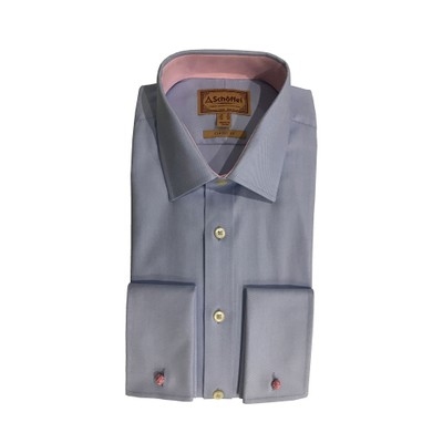 Greenwich Classic Shirt Light Blue Diagonal