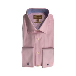 Schoffel Country Greenwich Classic Shirt in Pale Pink Diagonal