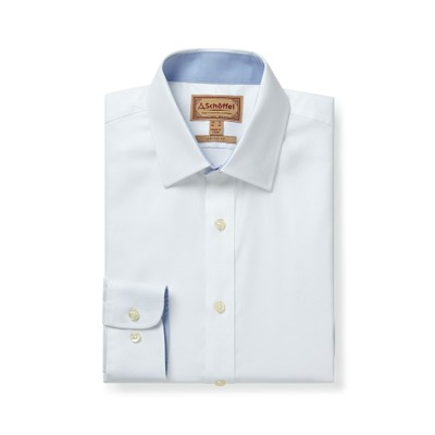 Greenwich Classic Shirt White Diagonal