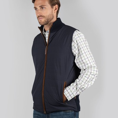 Schoffel Country Hybrid Aerobloc Gilet in Navy