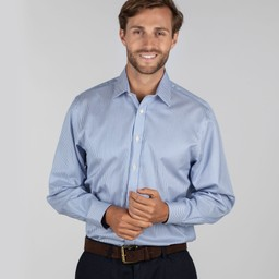 Schoffel Country Greenwich Classic Shirt in Navy Stripe