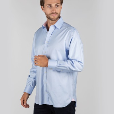 Greenwich Classic Shirt Lt Blue Stripe