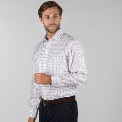 Greenwich Classic Shirt Purple Check