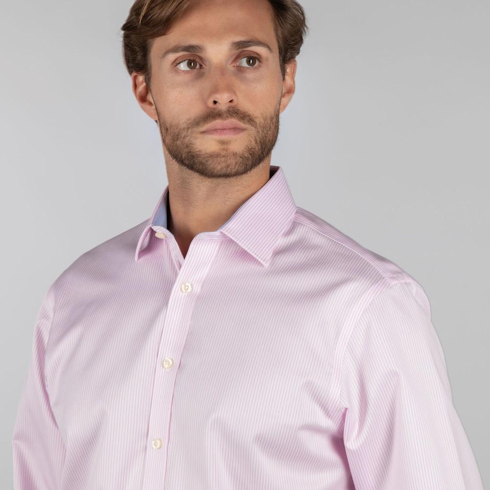 Greenwich Classic Shirt Pale Pink Stripe