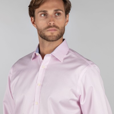 Greenwich Classic Shirt Pale Pink Stripe