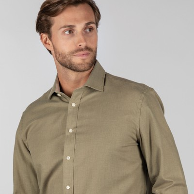 Newton Tailored Sporting Shirt Olive