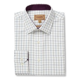 Schoffel Country Burnham Tattersall Classic Shirt in River Bed