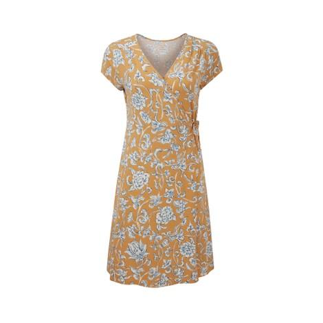 Padma Wrap Dress Daal Yellow