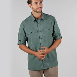 Schoffel Country Findhorn Technical Fishing Shirt in Dark Olive