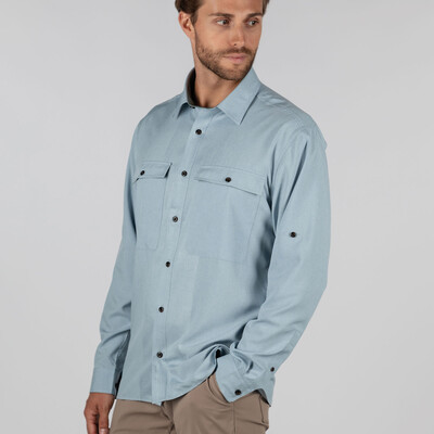 Findhorn Technical Fishing Shirt Ice Grey