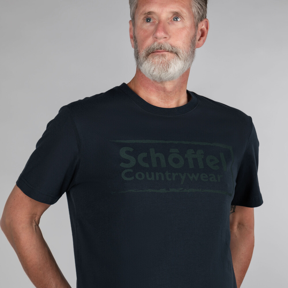 Schoffel Heritage T Shirt Navy