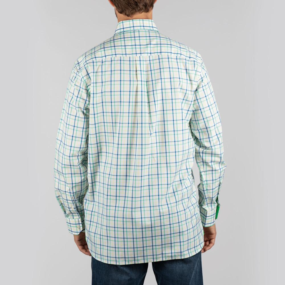 Holkham Classic Shirt Mint/Yellow/Mykonos