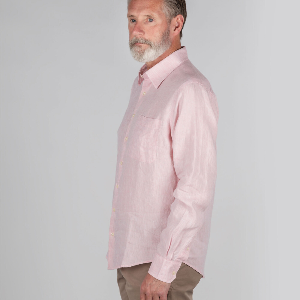 Thornham Classic Shirt Pale Pink
