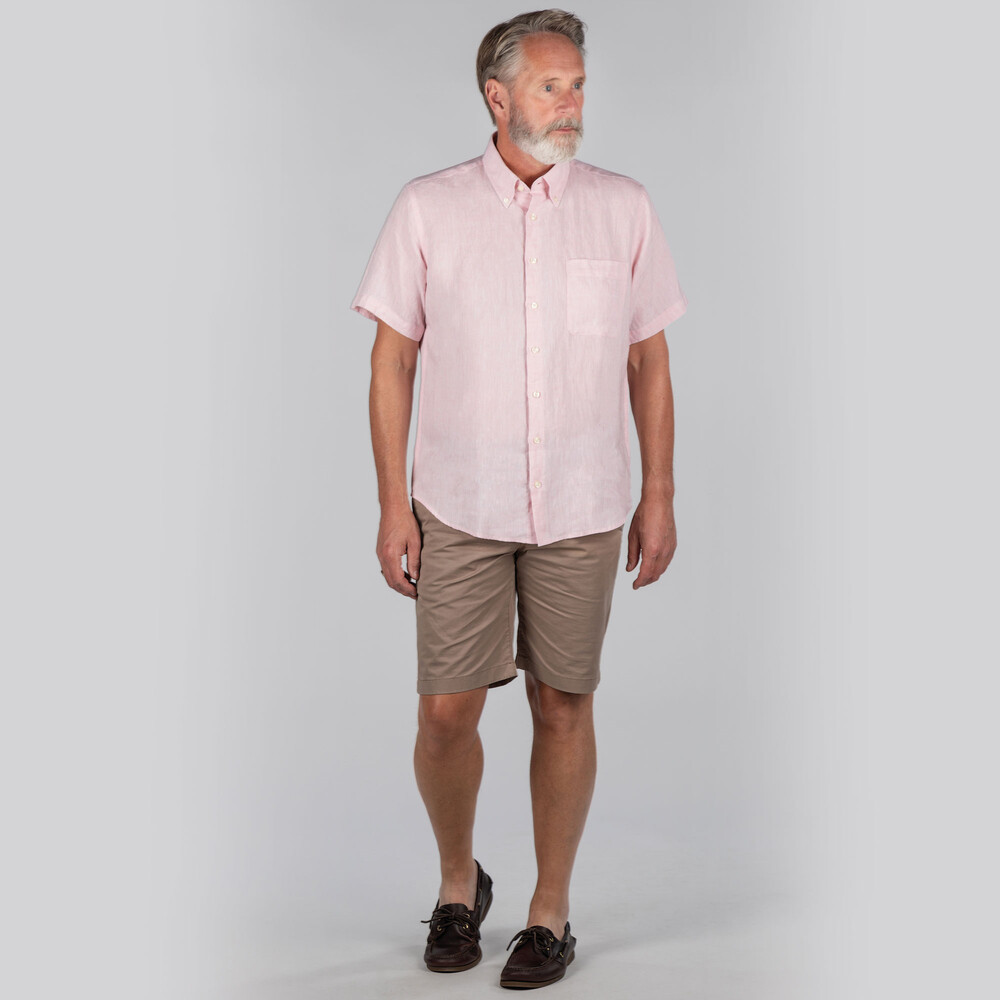 Thornham Short Sleeve Classic Shirt Pale Pink