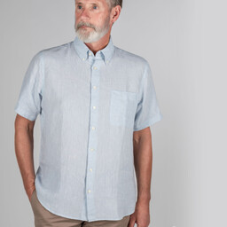 Schoffel Country Thornham Short Sleeve Classic Shirt in Pale Blue