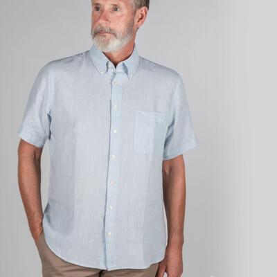 Thornham Short Sleeve Classic Shirt Pale Blue