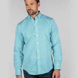Schoffel Country Harlyn Tailored Fit Shirt in Sea Blue