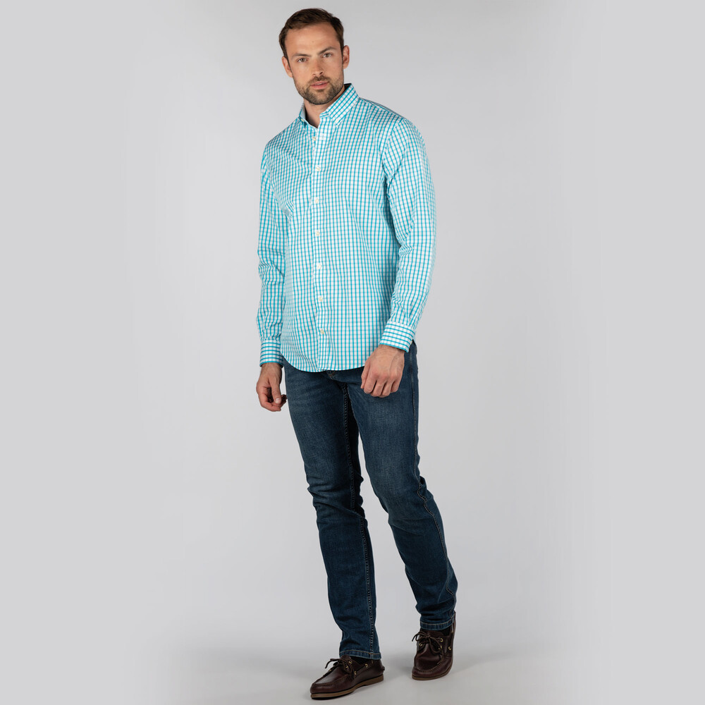 Harlyn Tailored Fit Shirt Sea Blue