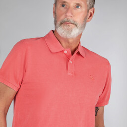Schoffel Country St Ives Classic Polo Shirt in Coral