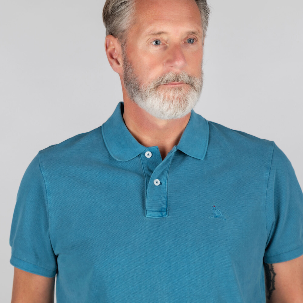 St Ives Classic Polo Shirt Mykonos Blue