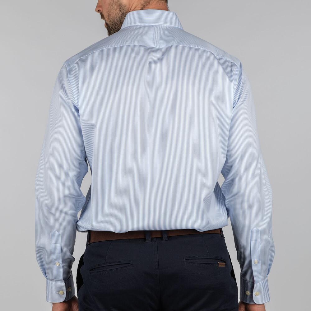 Greenwich Tailored Shirt Lt Blue Stripe