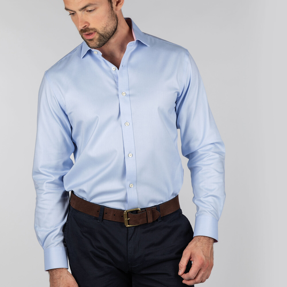 Greenwich Tailored Shirt Light Blue Diagonal