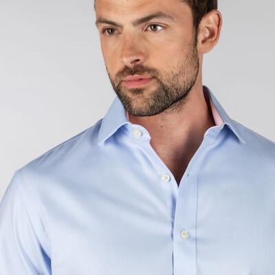 Greenwich Tailored Shirt Light Blue Diagonal