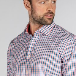 Schoffel Country Hebden Tailored Shirt in Coral/Mykonos