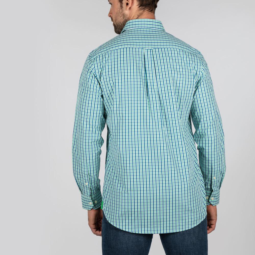 Hebden Tailored Shirt Mint/Mykonos