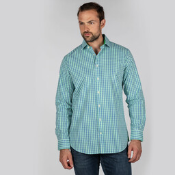 Schoffel Country Hebden Tailored Shirt in Mint/Mykonos