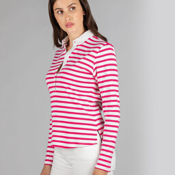 Schoffel Country Sunny Cove Shirt in Fuchsia Stripe