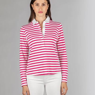 Sunny Cove Shirt Fuchsia Stripe