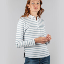 Schoffel Country Sunny Cove Shirt in Ice Grey Stripe