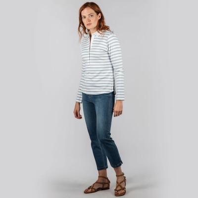 Sunny Cove Shirt Ice Grey Stripe