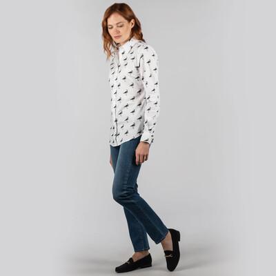 Norfolk Shirt Lapwing Print