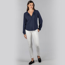 Schoffel Country Chloe Blouse in Navy
