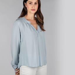 Schoffel Country Chloe Blouse in Ice Grey