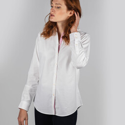 Schoffel Country Ladies Soft Oxford Shirt in White