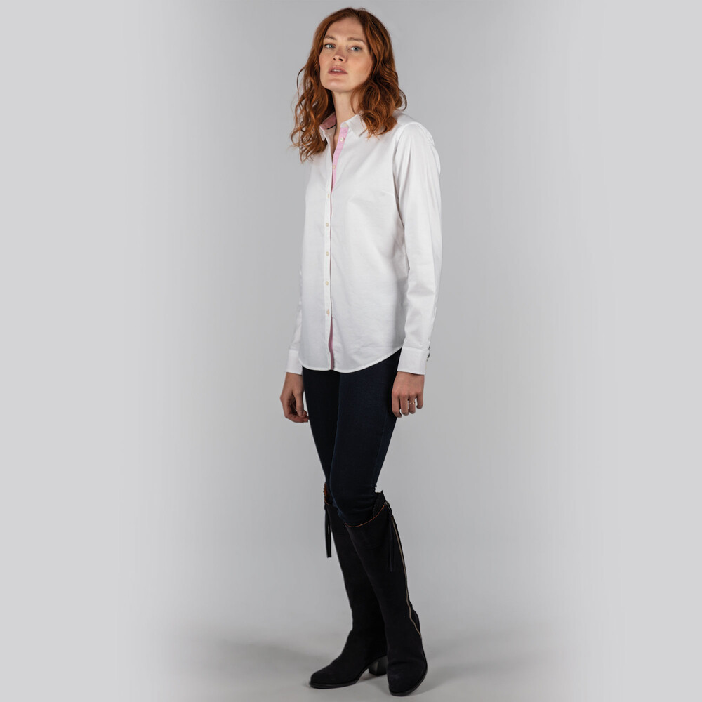 Ladies Soft Oxford Shirt White