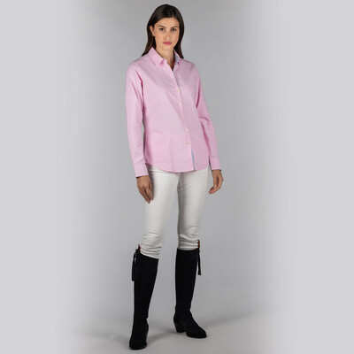 Ladies Soft Oxford Shirt Pale Pink